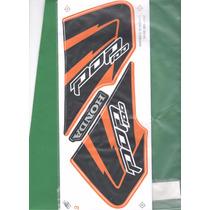 Kit Adesivos Honda Pop 100 2010 Laranja