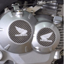 Kit Adesivo Relevo Tuning Motor Carbono Moto Honda Bros 160