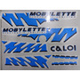 Jogo De Faixa Mobilete Caloi Xr 94 Neon Azul