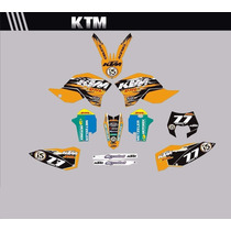 Adesivos Gráficos Personalizados Ktm Cola 3m Importada