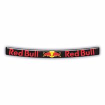 Adesivo Sticker Automotivo Viseira Moto Red Bull Resinado