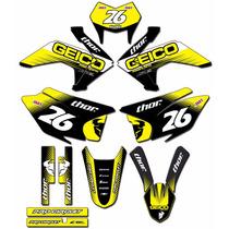 Kit Adesivos Graficos Crf 230 Ano 2015 Moto Crfmd-06