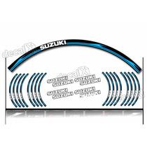 Kit Adesivo Friso Refletivo Roda Moto Suzuki Fri44 Decalx