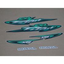 Jogo Adesivo Cg 125 Titan Kse 2003 Verde - Frete R$9,90