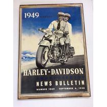 Lindo Quadro Decoração Garagem Harley Davidson