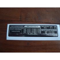 Adesivo De Advertencia Honda Cbx 750 F Pressão Dos Pneus