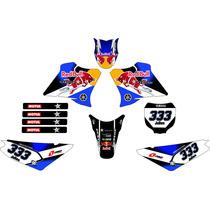 Kit Adesivo Gráfico Plotagem Moto Trilha Xtz125 2008 Md 09