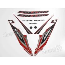 Kit Adesivos Honda Falcon Nx4 2013 Vermelha - Decalx