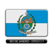 Adesivo Automotivo Bandeira Estado Rio De Janeiro Resinado