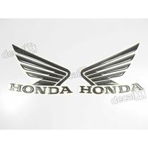Adesivos Asa Honda Tanque Hornet 2013 Resinado Preto/cinza