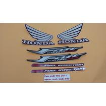 Kit Adesivos Honda Cg Fan 150 Esdi 2011 Vermelho Metalico