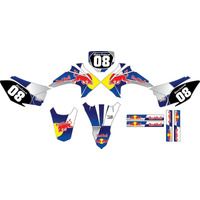 Kit Adesivos Gráfico Moto Crf 230 Ano 2015 Crfmd05 Red Bull