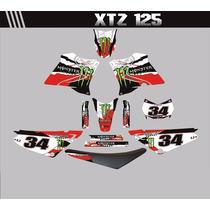Kit Adesivos Para Moto Xtz 125 + Capa De Banco - Trilha