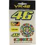 Cartela De Adesivos Valentino Rossi Vr46 10x12cm Un Rs1