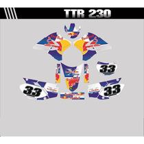 Kit Adesivos Completo Para Moto Ttr 230