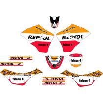 Kit Adesivo Gráfico Plotagem Moto Trilha Falcon 2002 - 2008