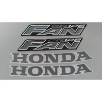 Kit Adesivos Honda Fan Cg 125 2008 Preta