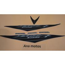 Jogo Kit Adesivo Honda Biz 125 + 2008 Cinza Frete R$9,90