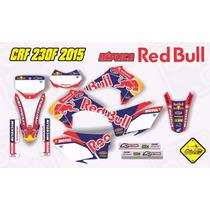Kit Adesivo Crf 230 Red Bull Full Bike Capa Pesonalizada