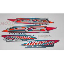 Adesivo Faixa Moto Honda Cg Titan 125 Azul Perolizado 99