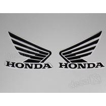 Adesivos Asa Honda Tanque Cb300r Resinados Em Preto - Decalx