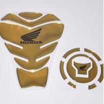 Protetor Tanque Tankpad Bocal Dourado Moto Honda Cg Fan 160