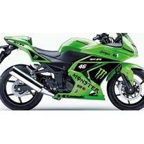 Adesivo Moto Kawasaki Ninja 300r Edição Especial