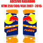 Adesivos De Radiador Ktm Red Bull 250/300/450 ( 07 - 15 )