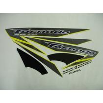 Jogo Adesivo Faixa Xr 250 Tornado 07 Amarela