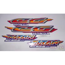 Adesivo Faixa Moto Honda Cg Titan 125 Azul 98