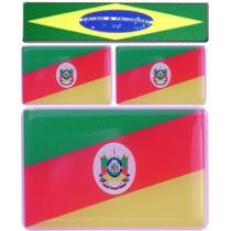 Kit Adesivos Bandeiras Rio Grande Do Sul + Brinde1 Do Brasil