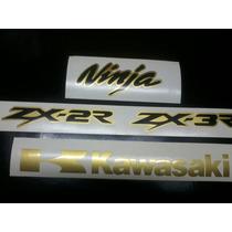 Adesivos Moto Kawasaki Ninja 250r 300r Dourado Gold Especial