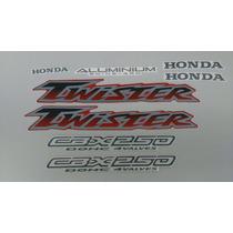 Kit Adesivos Honda Cbx 250 Twister 2003 Vermelha