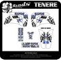Kit De Adesivos Personalizados Tenere Monster Rockstar Skull