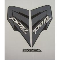 Kit Jogo Adesivos Completo Honda Pop 100 2011 Preta