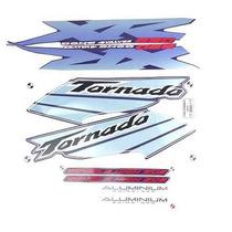 Kit Jogo Adesivo Honda Xr250 Tornado 2003 Azul