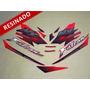 Kit Adesivos Falcon Nx4 2000 Vermelha - Resinado - Decalx