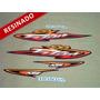 Kit Adesivos Cg Titan Kse 2003 Vermelha - Resinado - Decalx