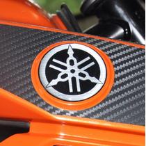 Adesivo Resinado Relevo Logo Tanque Moto Yamaha Fazer 150