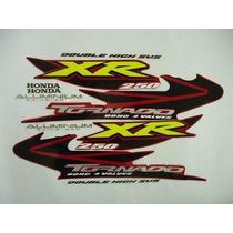 Kit Jogo Adesivos Completo Xr 250 Tornado 2005 Vermelho
