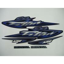 Kit Adesivos Honda Cg 125 Titan Kse 2003 Azul - Frete R$9,90