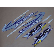 Kit Jogo Adesivos Xr 250 Tornado 2005 Azul - Frete R$9,90