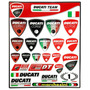 Cartela Ducati Team 26 Adesivos Resinados