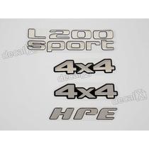 Kit Adesivos Mitsubishi L200 Sport 4x4 Hpe Resinado - Decalx