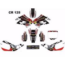 Kit Adesivos Gráficos Para Moto Cr 125 Cola 3m Importada