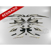Kit Adesivos Xtz 125x 2012 Branca - Resinado - Decalx