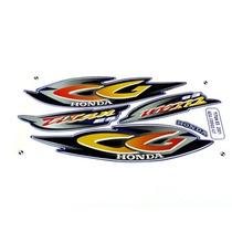 Kit Jogo Adesivo Honda Titan125 Es 2001 Azul
