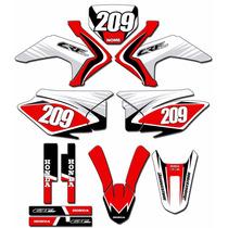Kit Adesivos Graficos Crf 230 Ano 2015 Moto Crfmd-03