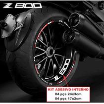 Friso Refletivo Kawasaki Z800 Z 800 Z750 + Adesivo Interno