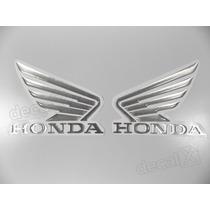Adesivos Asa Honda Twister Resinado Aço Escovado 9x11 Cms